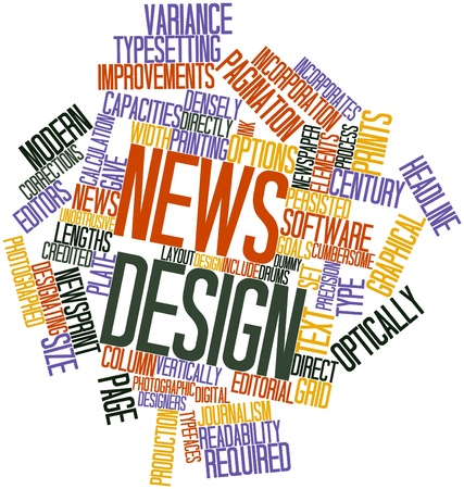 credited: Abstract word cloud for News design with related tags and terms