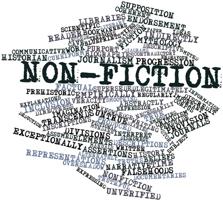 Abstract word cloud for Non-fiction with related tags and terms Stock Photo - 17198381