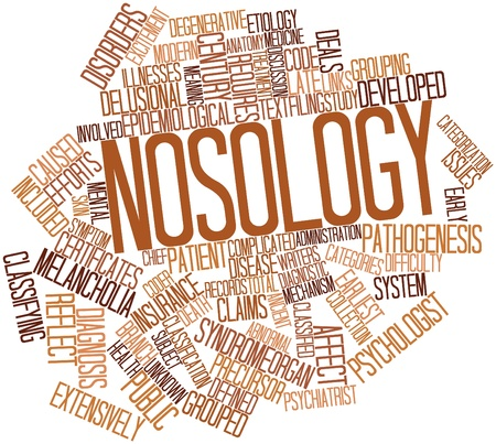 Abstract word cloud for Nosology with related tags and terms Stock Photo - 17198360
