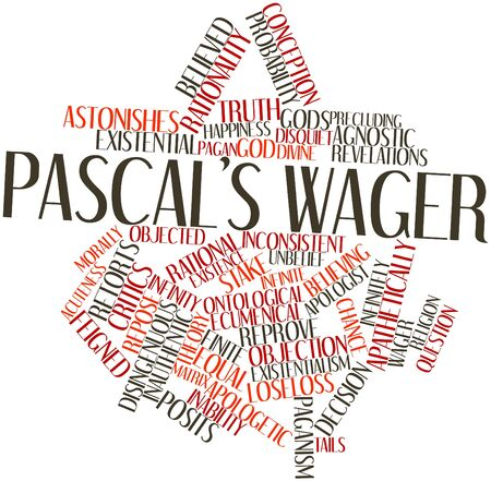 Abstract word cloud for Pascal's Wager with related tags and terms Stock Photo - 17197690
