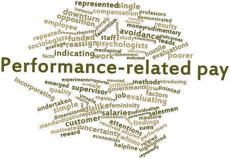 uprzejmości: Abstract cloud słowo wynagrodzeń związanych z wydajnością związanych z tagami oraz warunków