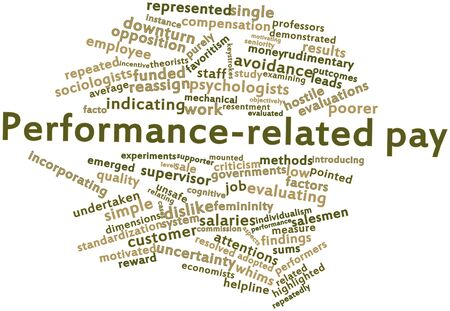 emerged: Abstract word cloud for Performance-related pay with related tags and terms Stock Photo