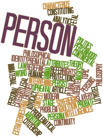 Abstract word cloud for Person with related tags and terms Stock Photo - 17198026