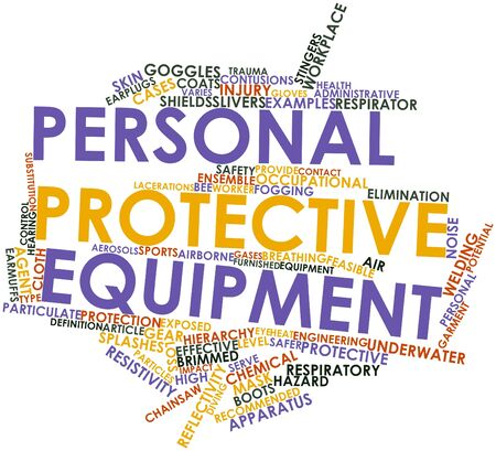 personal protective equipment: Abstract word cloud for Personal protective equipment with related tags and terms