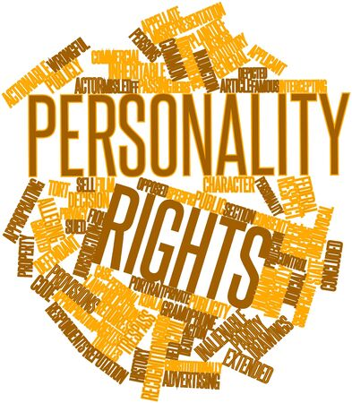 plaintiff: Abstract word cloud for Personality rights with related tags and terms