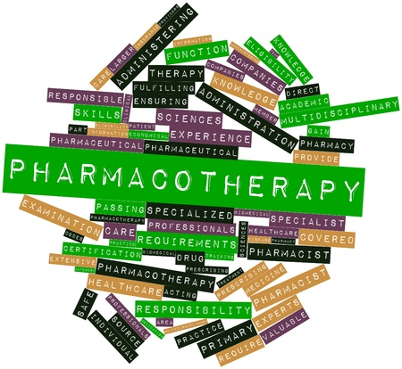 Abstract word cloud for Pharmacotherapy with related tags and terms Stock Photo - 17197596
