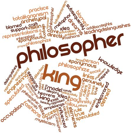 Abstract word cloud for Philosopher king with related tags and terms Banco de Imagens