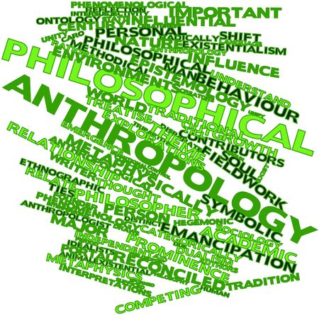 anthropological: Abstract word cloud for Philosophical anthropology with related tags and terms