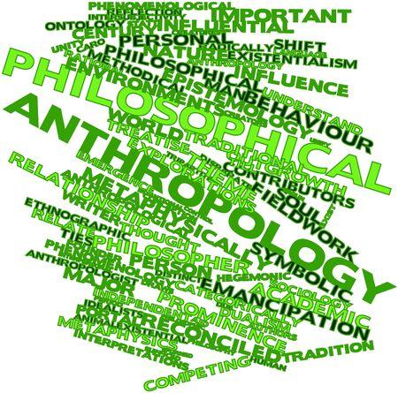 dualism: Nube palabra abstracta para la antropolog�a filos�fica con las etiquetas y t�rminos relacionados