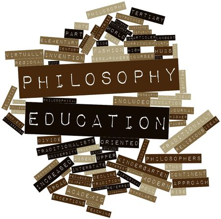 pedagogic: Abstract word cloud for Philosophy education with related tags and terms
