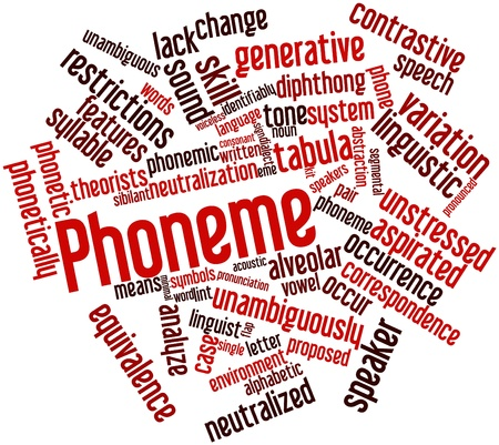 triplet: Abstract word cloud for Phoneme with related tags and terms Stock Photo