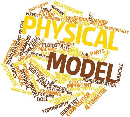 Abstract word cloud for Physical model with related tags and terms Stock Photo - 17197680