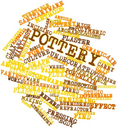 Abstract word cloud for Pottery with related tags and terms Stock Photo - 17198404