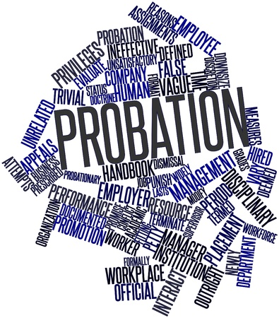 ineffective: Abstract word cloud for Probation with related tags and terms