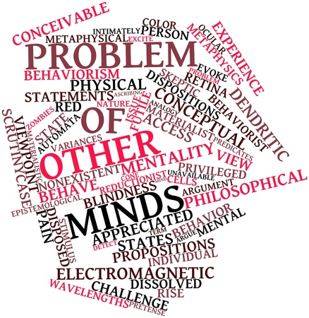 epistemological: Abstract word cloud for Problem of other minds with related tags and terms