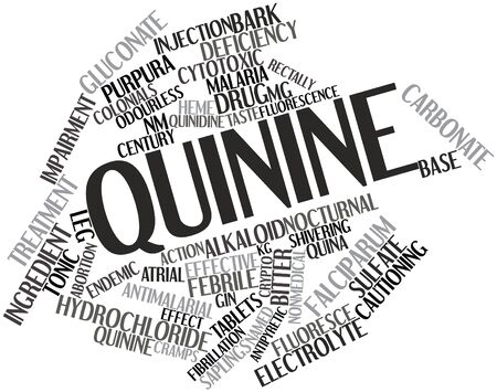 amine: Abstract word cloud for Quinine with related tags and terms