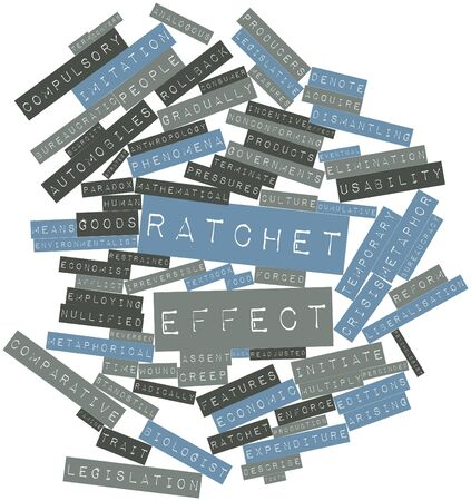 denote: Abstract word cloud for Ratchet effect with related tags and terms
