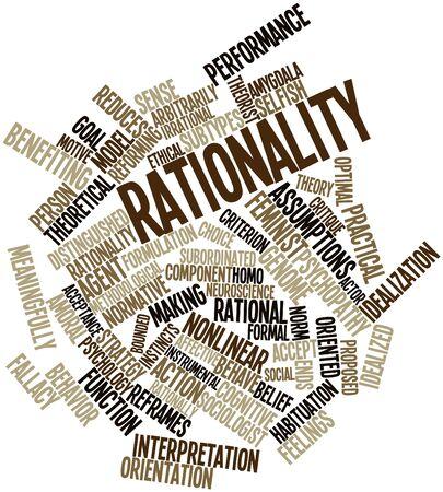 Abstracte woord wolk voor Rationaliteit met gerelateerde tags en termen Stockfoto