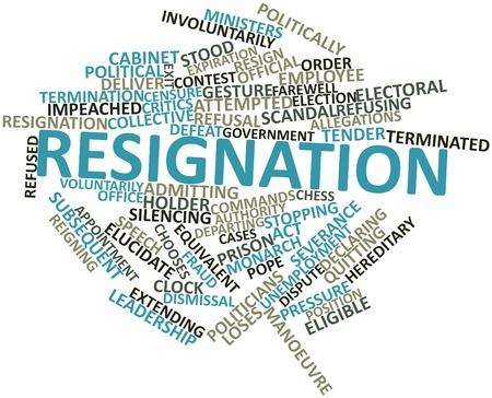 eligible: Word cloud astratto per dimissioni con tag correlati e termini