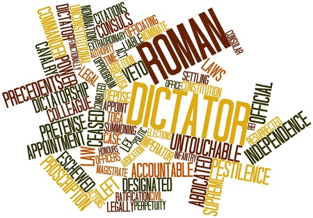 dictator: Abstract word cloud for Roman dictator with related tags and terms
