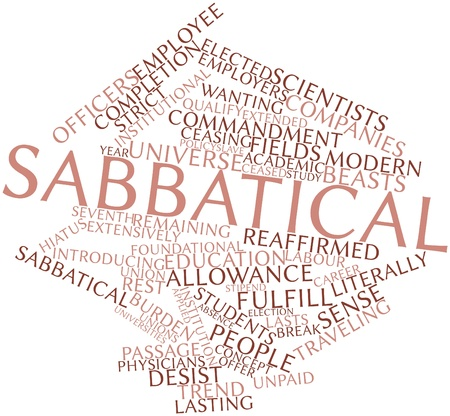 labor policy: Abstract word cloud for Sabbatical with related tags and terms