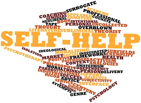 experiential: Abstract word cloud for Self-help with related tags and terms