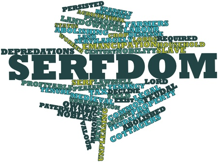 feudalism: Abstract word cloud for Serfdom with related tags and terms