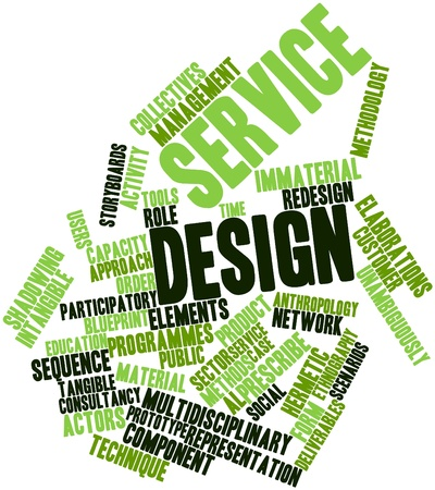 participatory: Abstract word cloud for Service design with related tags and terms