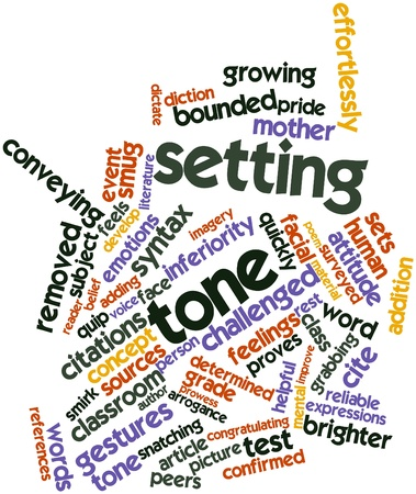 Abstract word cloud for Setting tone with related tags and terms Stock Photo - 17197363