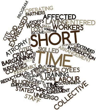 time keeping: Abstract word cloud for Short time with related tags and terms