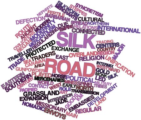 nomadic: Abstract word cloud for Silk Road with related tags and terms