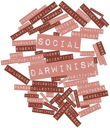 Abstract word cloud for Social Darwinism with related tags and terms Stock Photo - 17197292