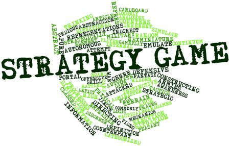 analogous: Abstract word cloud for Strategy game with related tags and terms