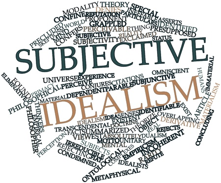 thinkers: Abstract word cloud for Subjective idealism with related tags and terms