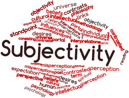 interpretations: Abstract word cloud for Subjectivity with related tags and terms