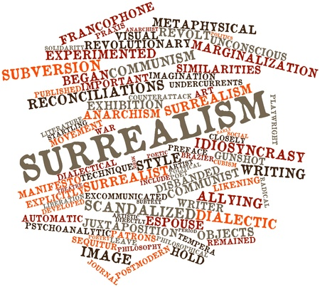 anarchism: Abstract word cloud for Surrealism with related tags and terms Stock Photo