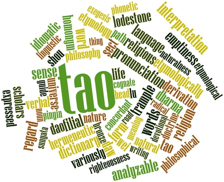 derivation: Abstract word cloud for Tao with related tags and terms