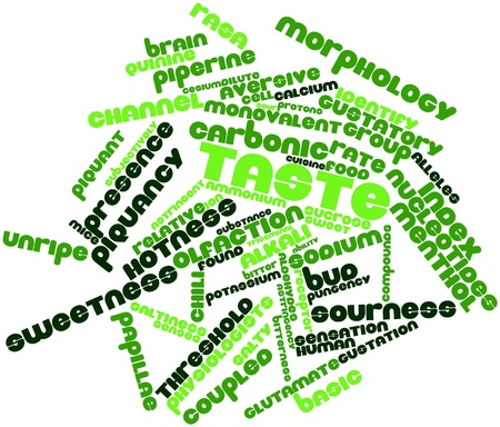 hotness: Abstract word cloud for Taste with related tags and terms