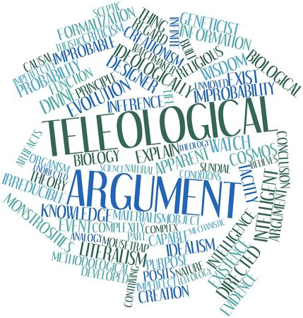 Abstract word cloud for Teleological argument with related tags and terms Stock Photo - 17198135
