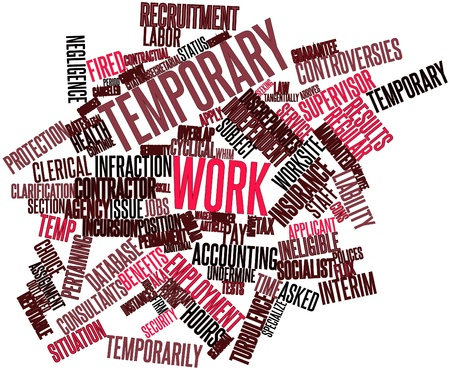 applicant: Abstract word cloud for Temporary work with related tags and terms