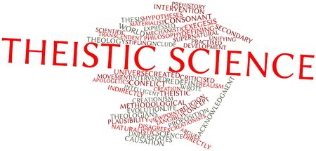 identifies: Abstract word cloud for Theistic science with related tags and terms