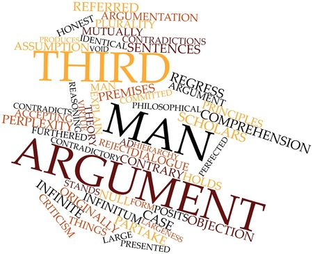 regress: Abstract word cloud for Third man argument with related tags and terms Stock Photo
