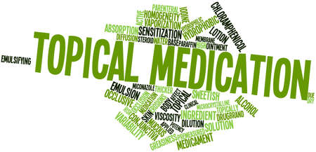 Abstract word cloud for Topical medication with related tags and terms Stock Photo - 17196369