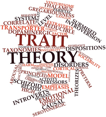 Abstract word cloud for Trait theory with related tags and terms Stock Photo - 17197692