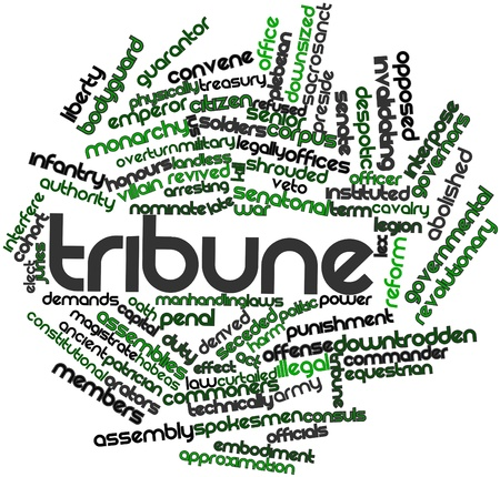 orators: Abstract word cloud for Tribune with related tags and terms