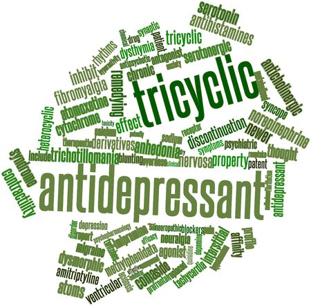 neuralgia: Abstract word cloud for Tricyclic antidepressant with related tags and terms Stock Photo