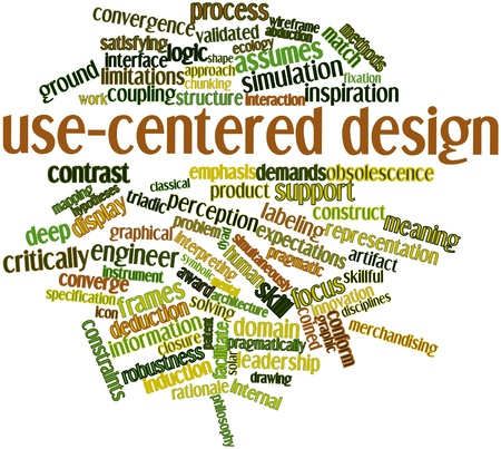 pragmatic: Abstract word cloud for Use-centered design with related tags and terms