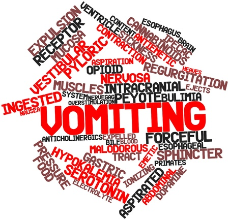 labyrinthine: Abstract word cloud for Vomiting with related tags and terms