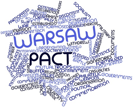 joining forces: Abstract word cloud for Warsaw Pact with related tags and terms