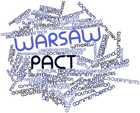 pacto: Nube palabra abstracta para el Pacto de Varsovia con las etiquetas y términos relacionados